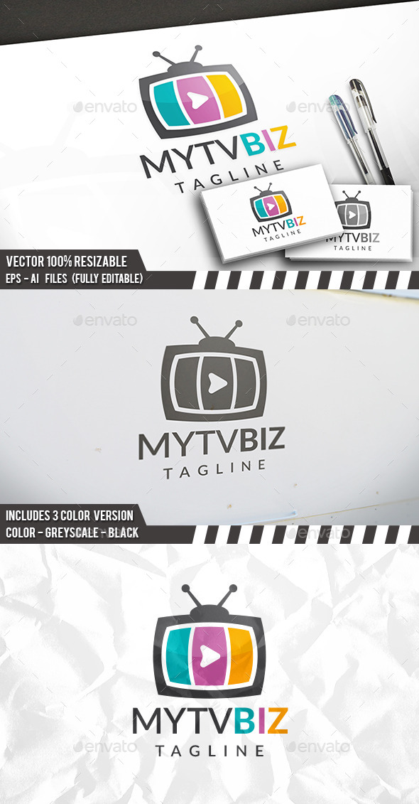 Tv Logo Template - Objects Logo Templates