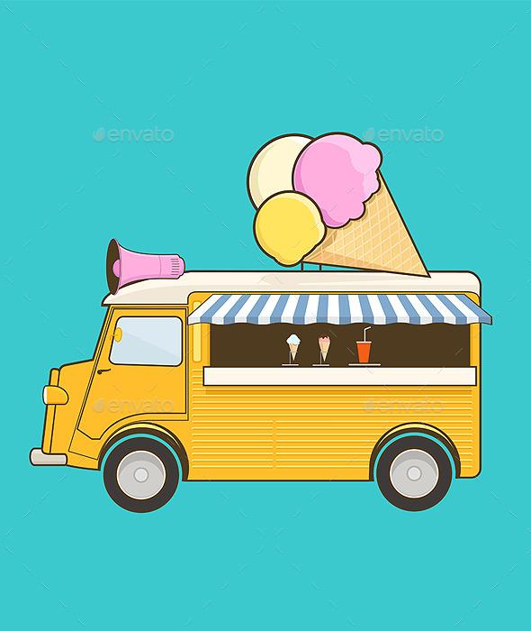 Ice Cream Truck - Vectors
