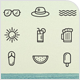 Beach and Summer Icons - GraphicRiver Item for Sale