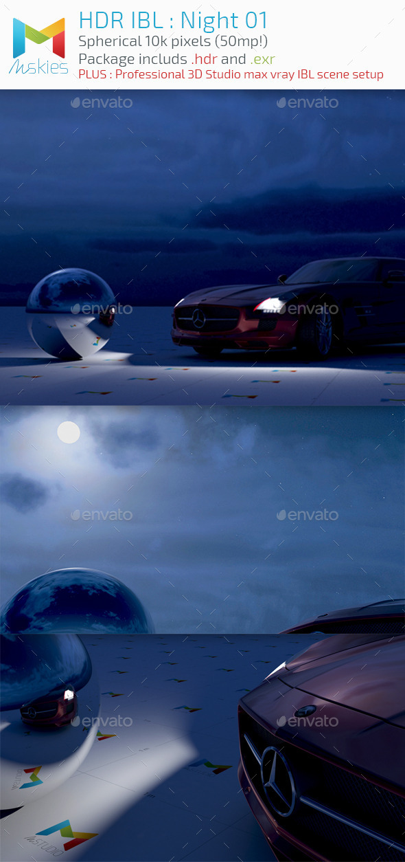 HDR IBL : Moon Night - 3DOcean Item for Sale
