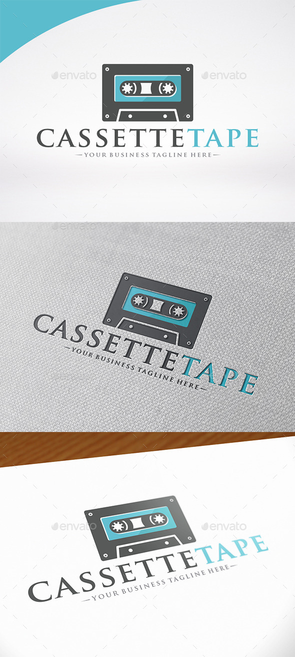Cassette Music Logo Template