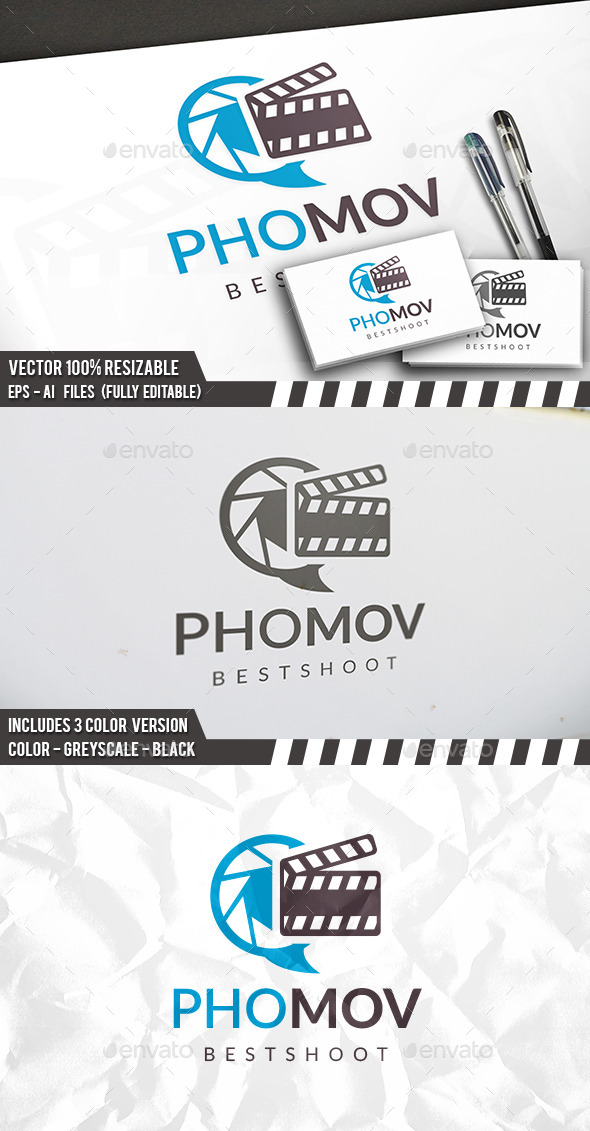Photo Movie Logo - Symbols Logo Templates