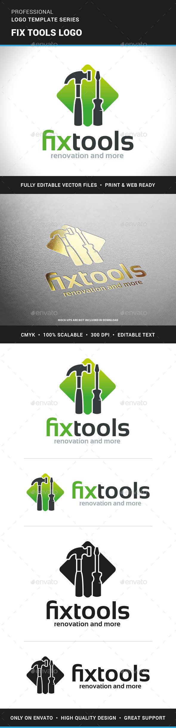 Fix Tools Logo Template - Objects Logo Templates