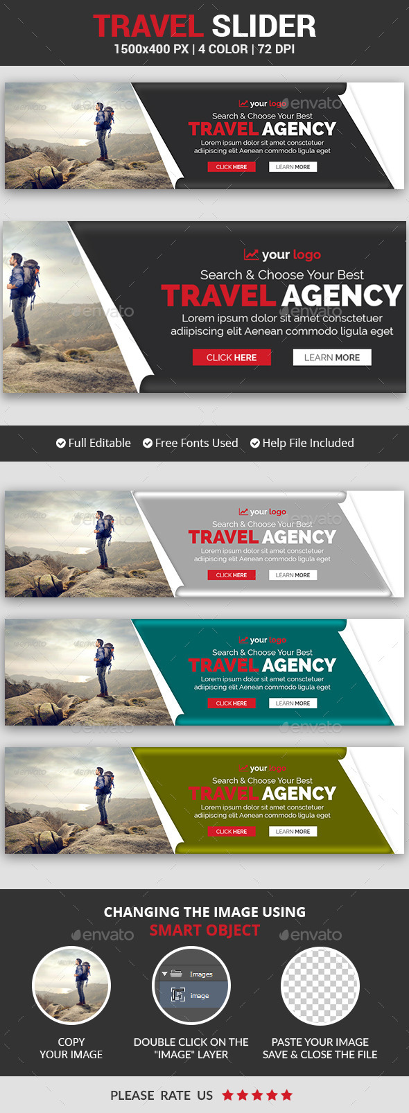 Travel Slider v4 - Sliders & Features Web Elements