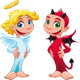 Baby Angel and Devil. - GraphicRiver Item for Sale