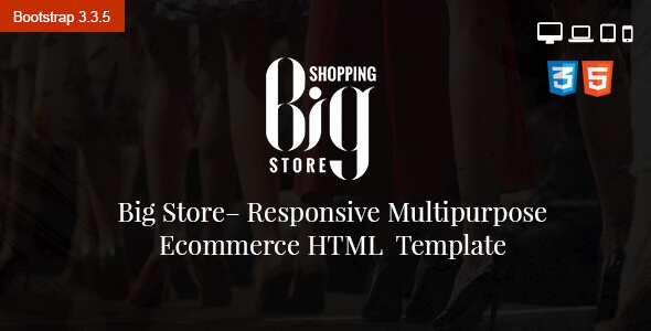 Big Store eCommerce Multipurpose HTML5 Template - Retail Site Templates