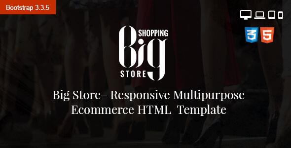 Big Store eCommerce Multipurpose HTML5 Template