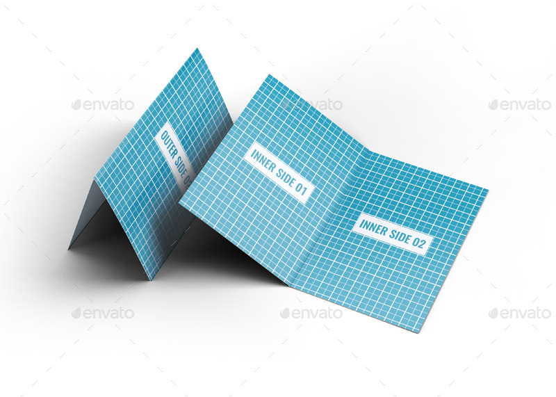 Vertical Folded Business Card Mockup Jpg