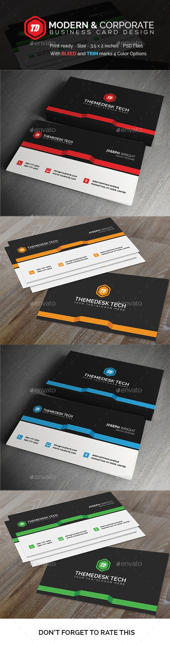 Modern and Corporate - Business Card - Corporate Business Cards