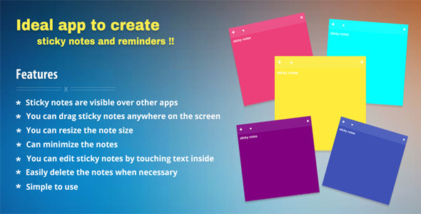 Floating Stickies - CodeCanyon Item for Sale