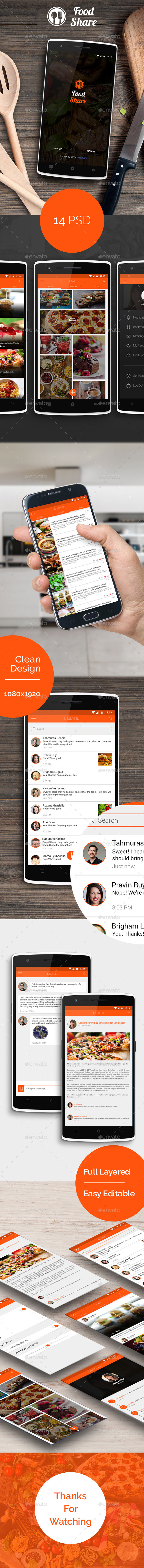 Food Share Food App Template UI