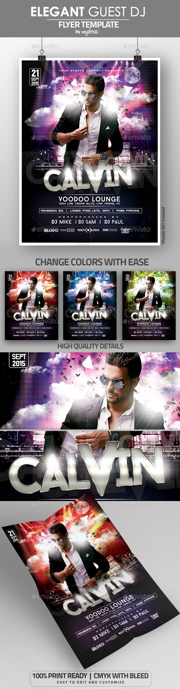 Elegant Guest DJ Flyer / Poster Template - Clubs & Parties Events