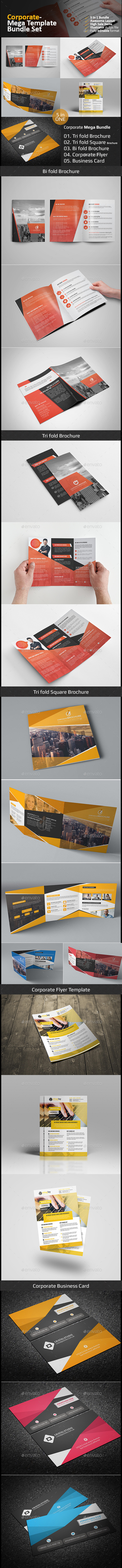 Corporate Mega Bundle-02 - Brochures Print Templates