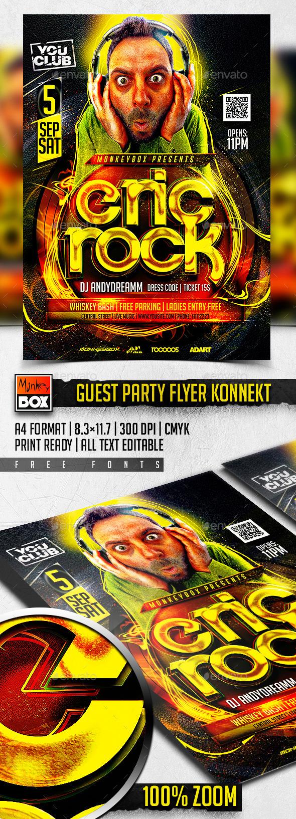 Guest Party Flyer Konnekt - Clubs & Parties Events