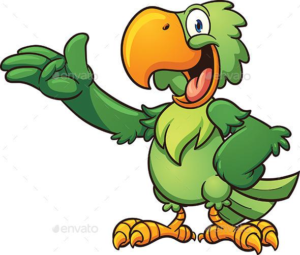 Cartoon Parrot - Animals Characters