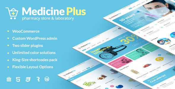 Medicine Plus – Medical Pharmacy & Drugstore Theme
