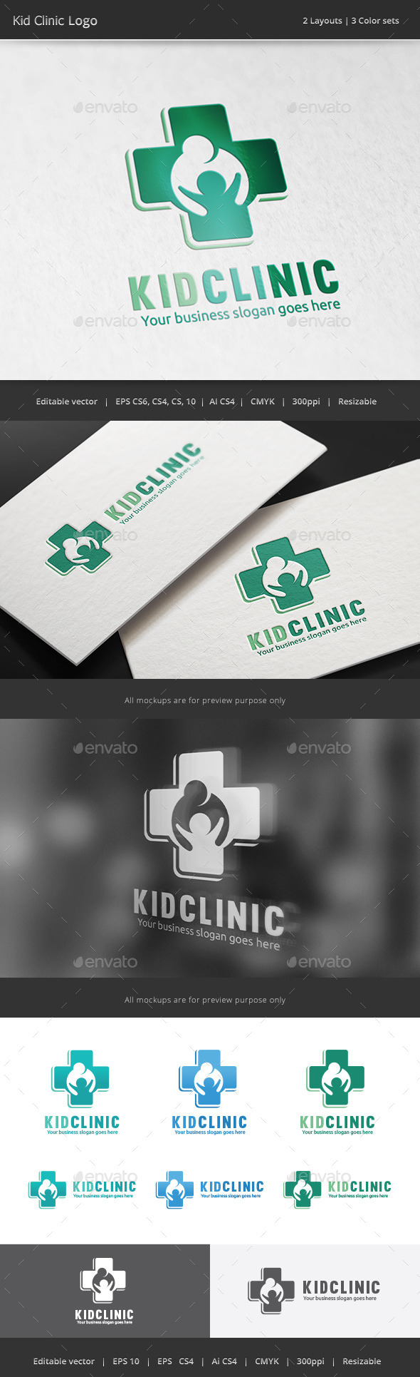 Kid Clinic Logo - Symbols Logo Templates