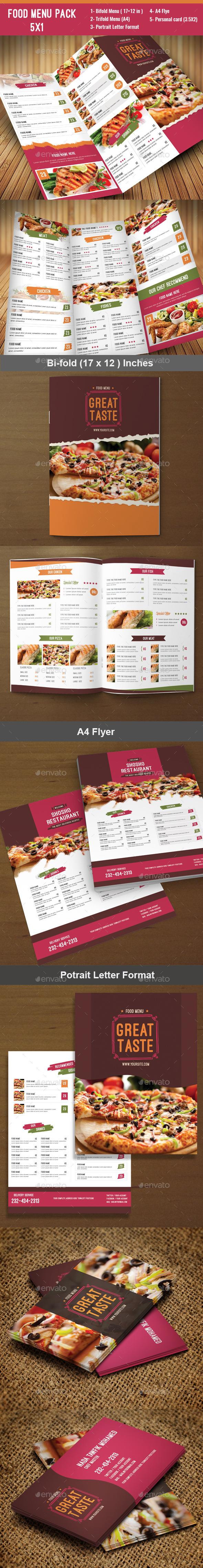 Food Menu Pack 7  - Food Menus Print Templates
