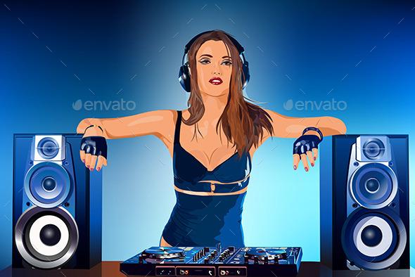 Woman DJ - People Characters