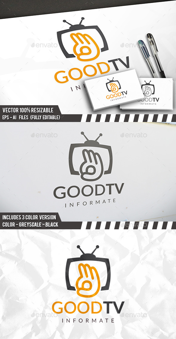 Good Tv Logo - Humans Logo Templates