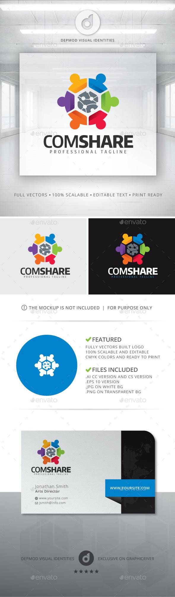 ComShare Logo - Symbols Logo Templates