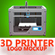 3D Printer Logo Mockup - GraphicRiver Item for Sale
