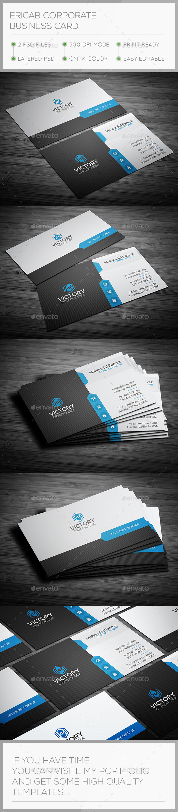 Ericab Corporate Business Card