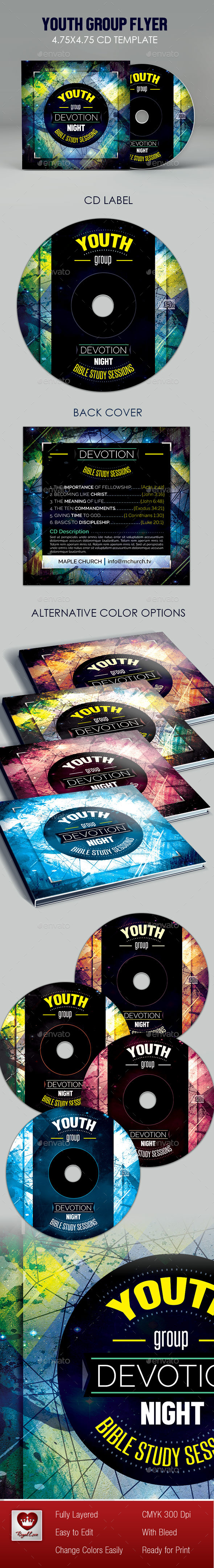 Youth Group CD Artwork - CD & DVD Artwork Print Templates