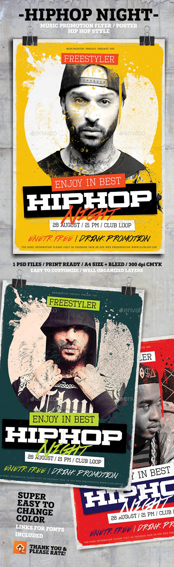 HipHop Night PosterFlyer - Events Flyers