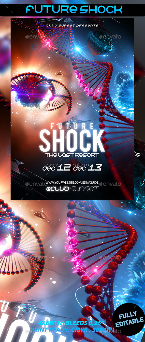 Future Shock - Events Flyers