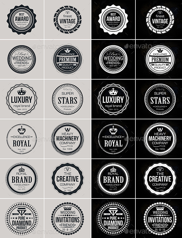 Vintage Logo Badges Set 2