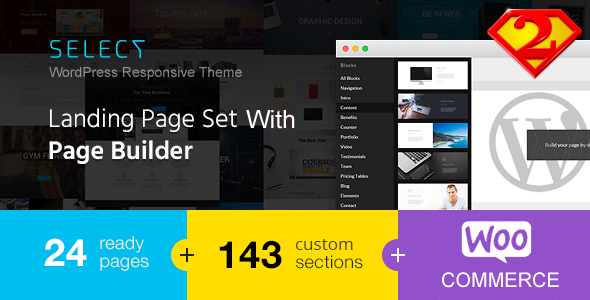Select – Responsive Landing Page WordPress Theme