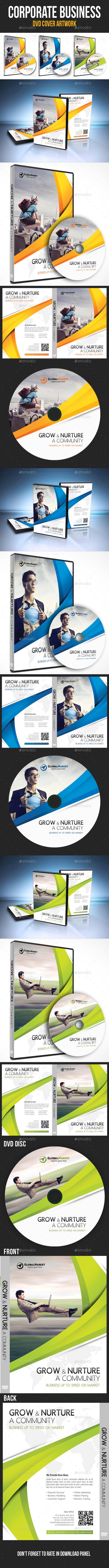 Corporate Business DVD Cover Template V01 - CD & DVD Artwork Print Templates