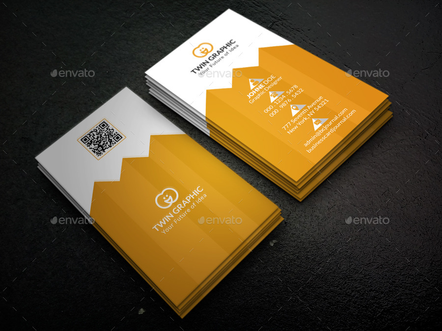 Pyramid Vertical Business Card Design by TwinGraphic | GraphicRiver
