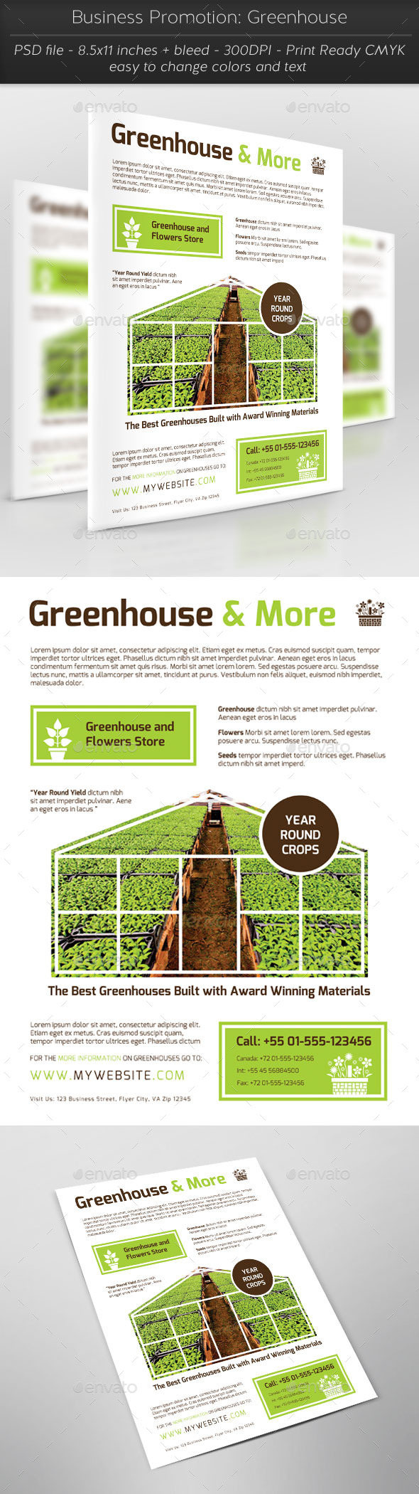 Business Promotion: Greenhouse - Flyers Print Templates