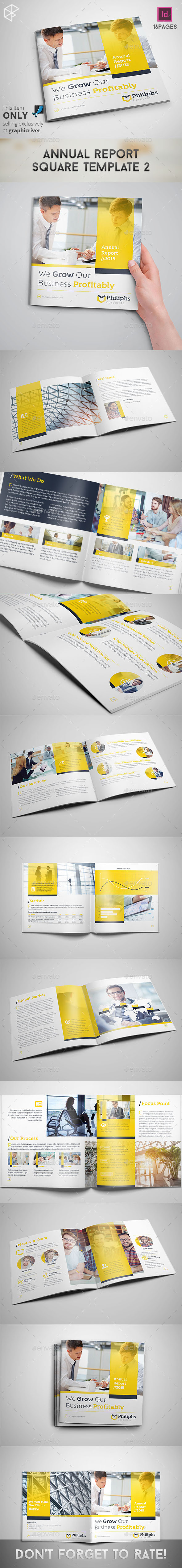 Annual Report Square Template 2 - Corporate Brochures