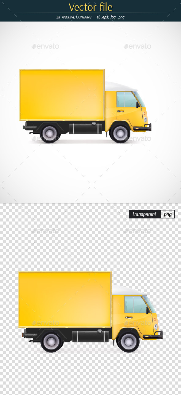 Yellow Truck - Man-made Objects Objects