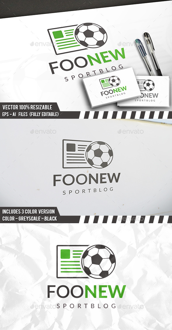 Football News Logo - Objects Logo Templates