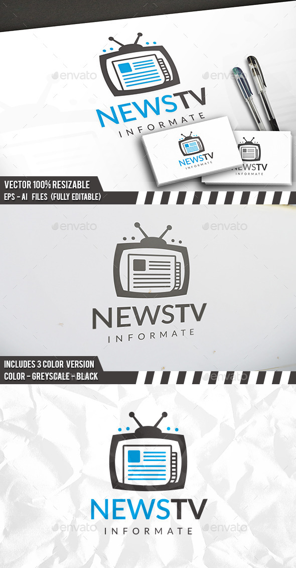 Tv News Logo - Objects Logo Templates