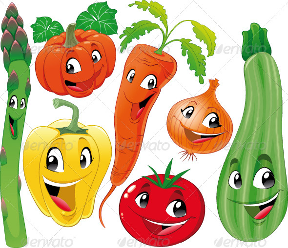 Vegetable Family - Characters Vectors
