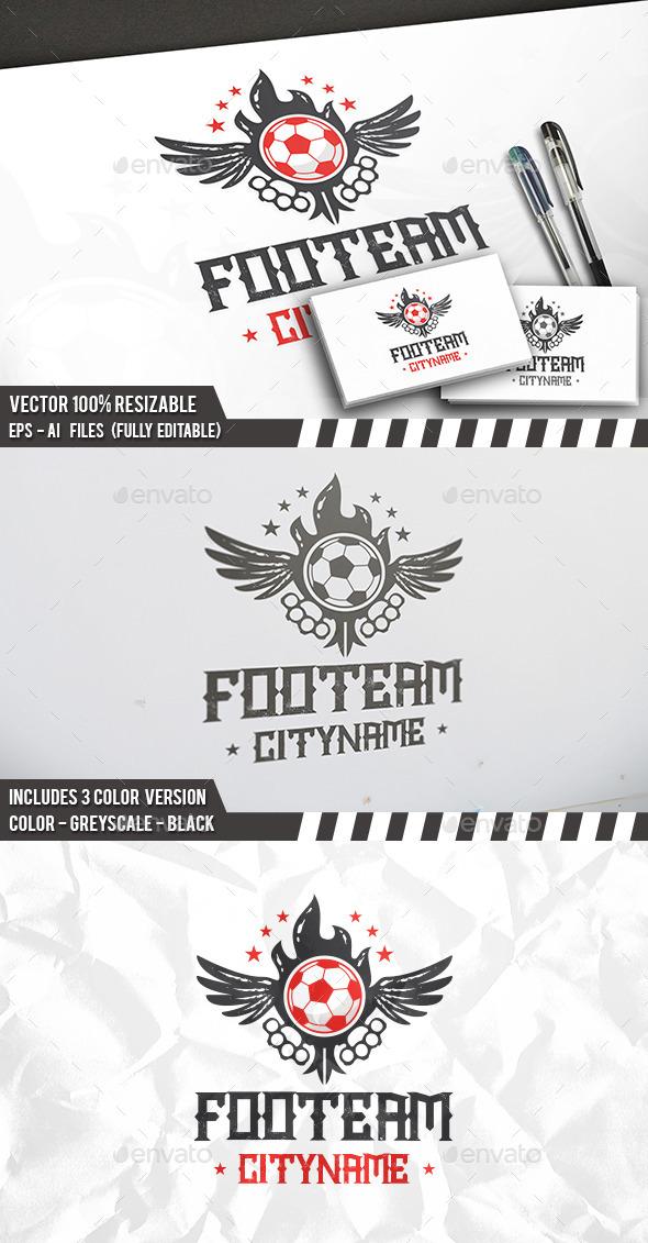 Football Wings Logo - Symbols Logo Templates