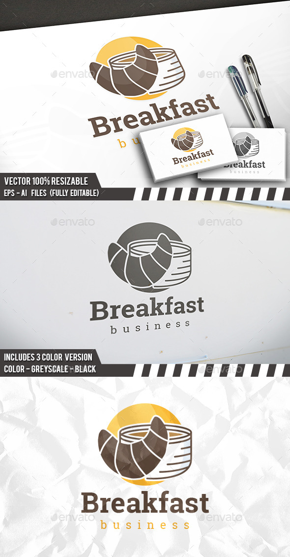 Breakfast Logo - Food Logo Templates