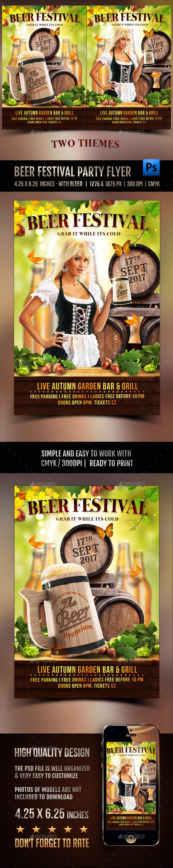 Beer Festival Party Flyer - Clubs & Parties Events
