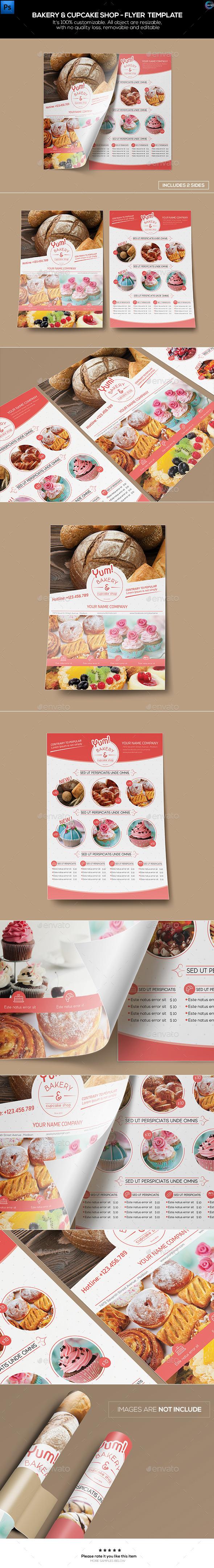Bakery & Cupcake Shop Flyer Template