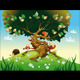 Cartoon Landscape with Animals. - GraphicRiver Item for Sale