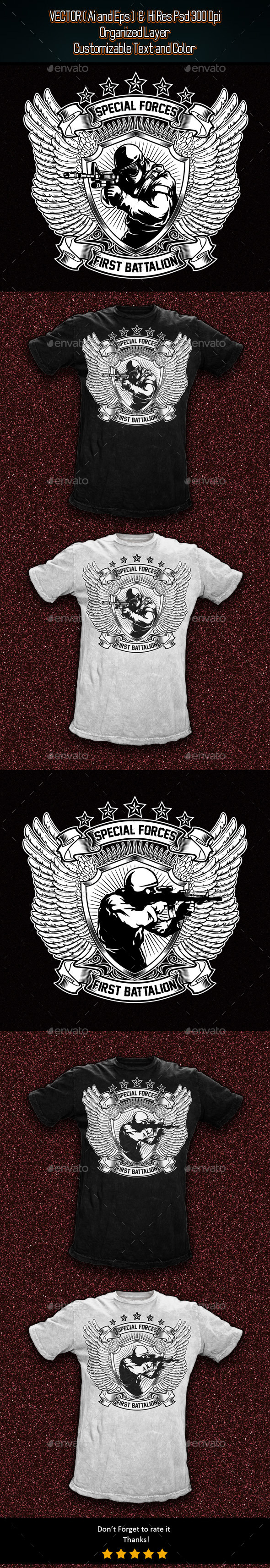 2 Military T-Shirt Template - Designs T-Shirts