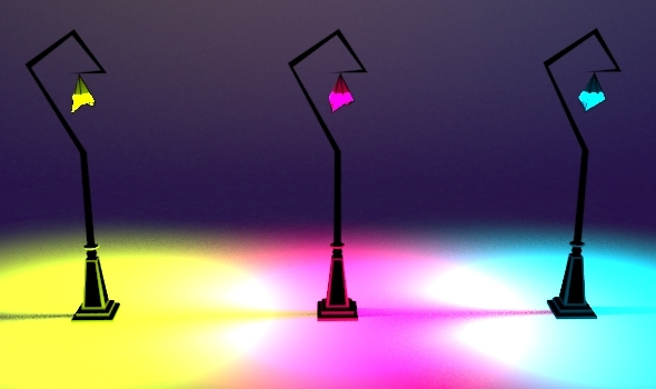 Whimsical Street Lamp Set 03