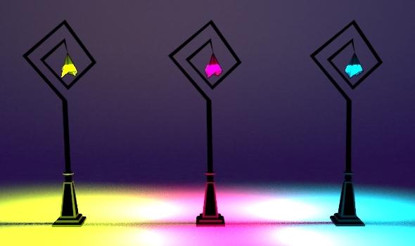 Whimsical Street Lamp Set 04 - 3DOcean Item for Sale