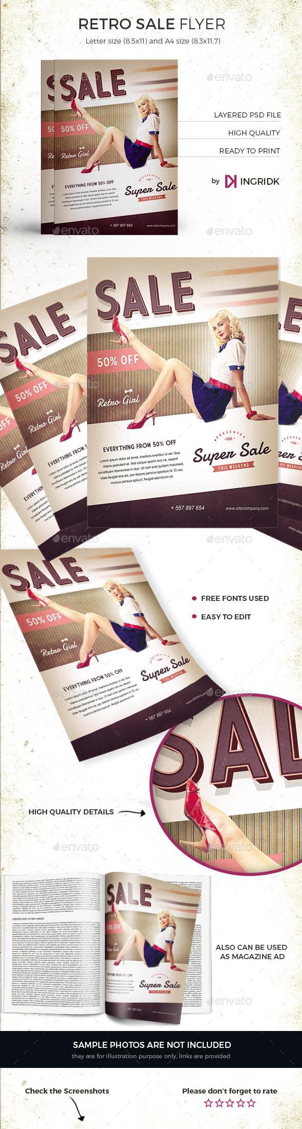 Vintage Sale Flyer / Magazine Ad - Commerce Flyers