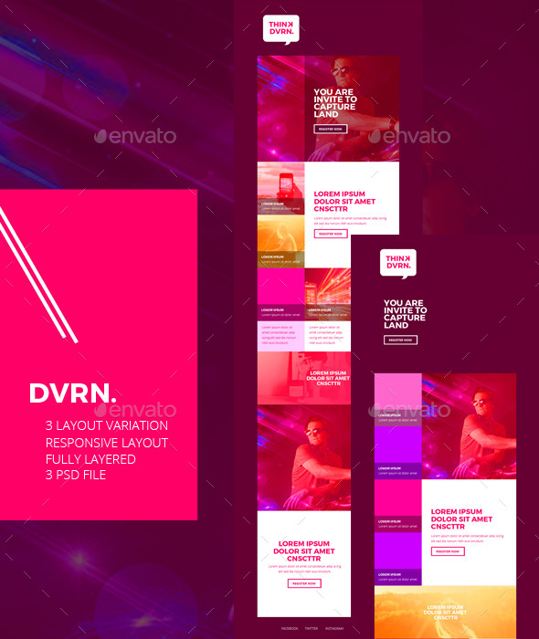 Dvrn Email Newsletter Designs Templates - E-newsletters Web Elements